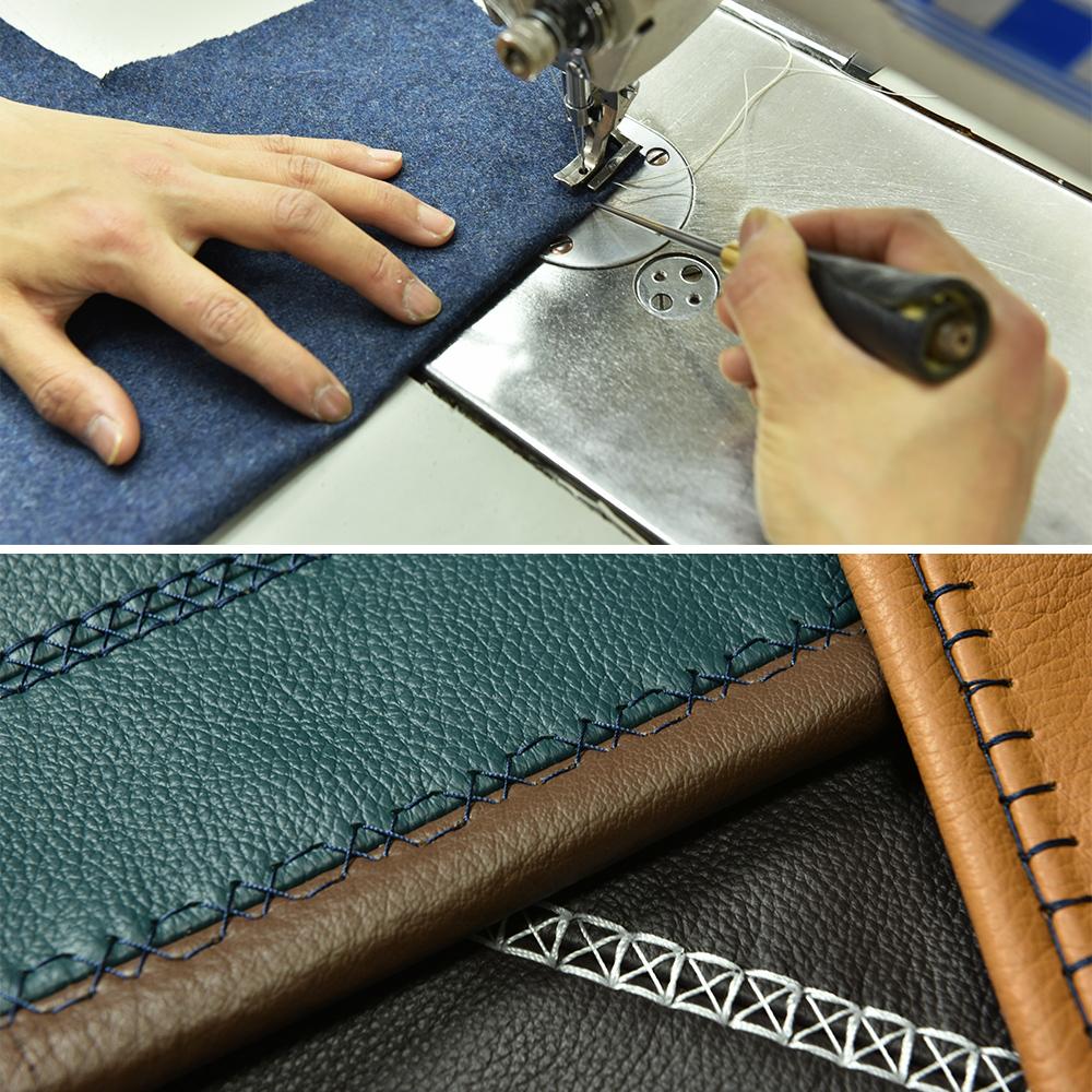 ソファーの縫製