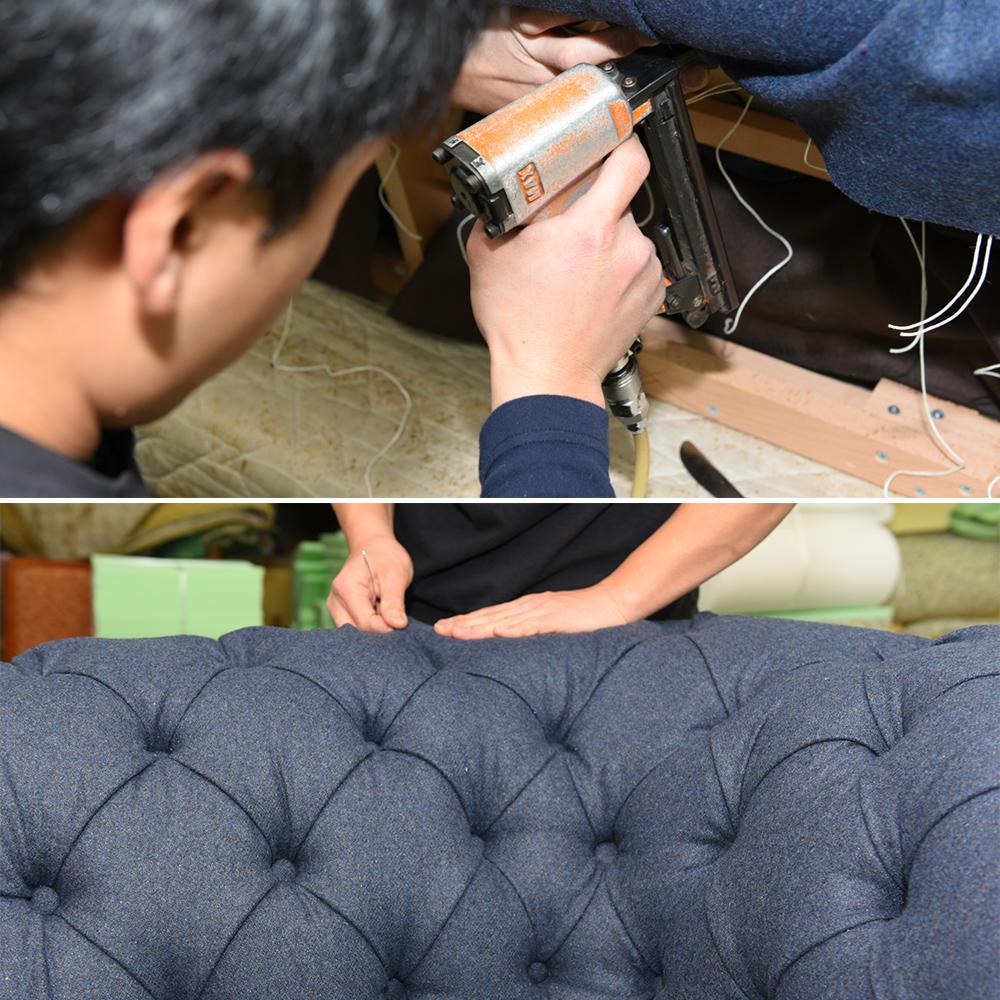 ソファーの張り込み